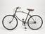 BSA folding bicycle, c. 1940. Left hand side view on white background.