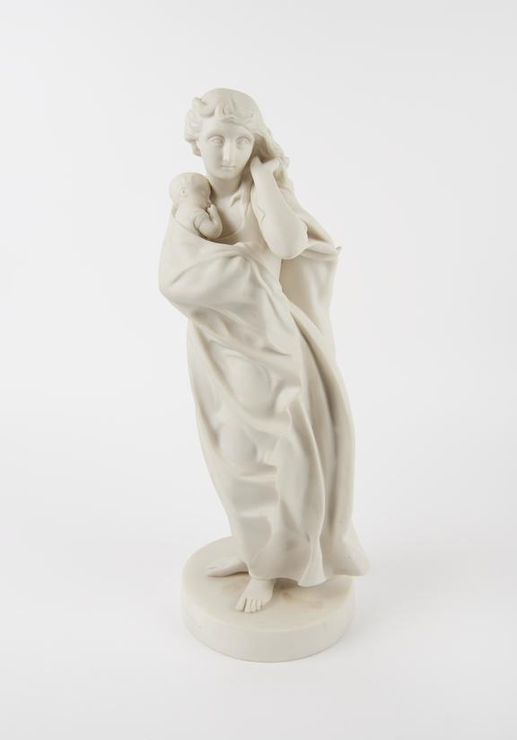 Statue of The Wanderer, Parian ware, English, 19th century, presented by Henry Wellcome, from a barber-surgeon's