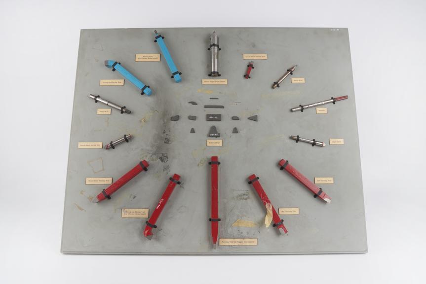 ?Oakaloy? cemented tungsten carbide ?commutator turning tool?, by Lenchs Ltd., Birmingham, Warwickshire, England, 1954