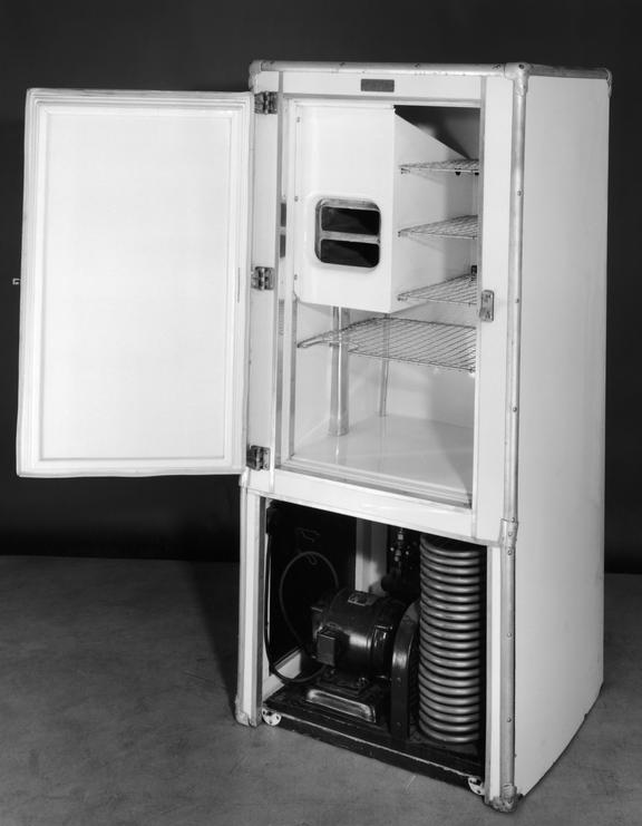 Kelvinator refrigerator no 5534, 1926. This electric compression domestic refrigerator is an example of the first