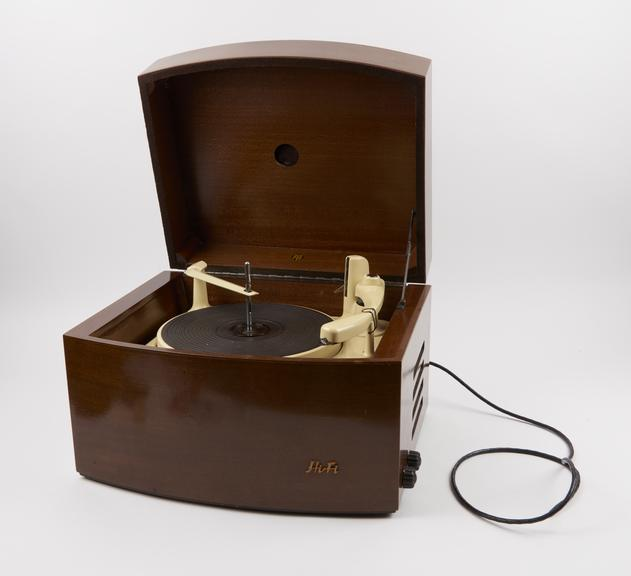 Pye Black Box' record player, introduced 1954.'