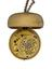 Gold pair-cased watch with gold champleve dial, by Daniel Quare