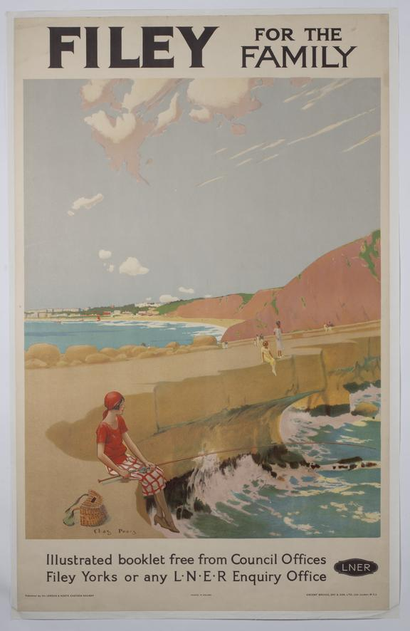 Poster, LNER 'Filey for the Family' by Charles Pears, 1930