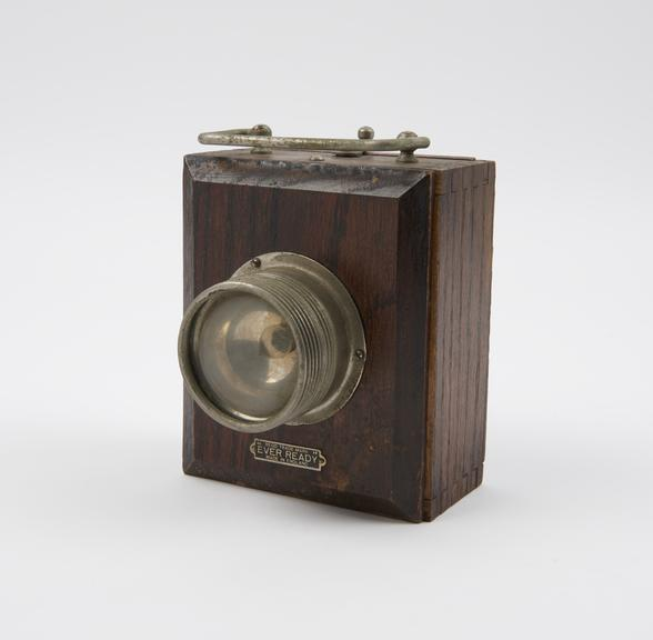 Popular' model wooden case hand lamp by the Ever-Ready Company, c.1931'