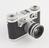 'Periflex' 35mm camera in leather case