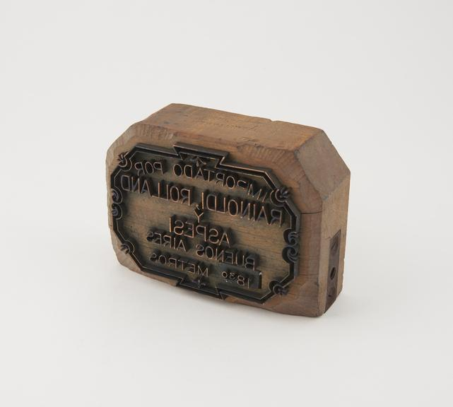 Bolt end stamp made by T. Whit