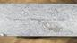 'For Science' sculpture by Jenny Holzer, 2020, comprising two benches made from silver cloud granite.