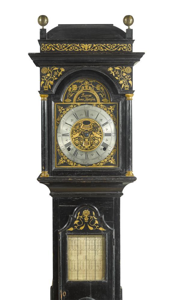 Longcase clock signed James Harrison, brother of John Harrison