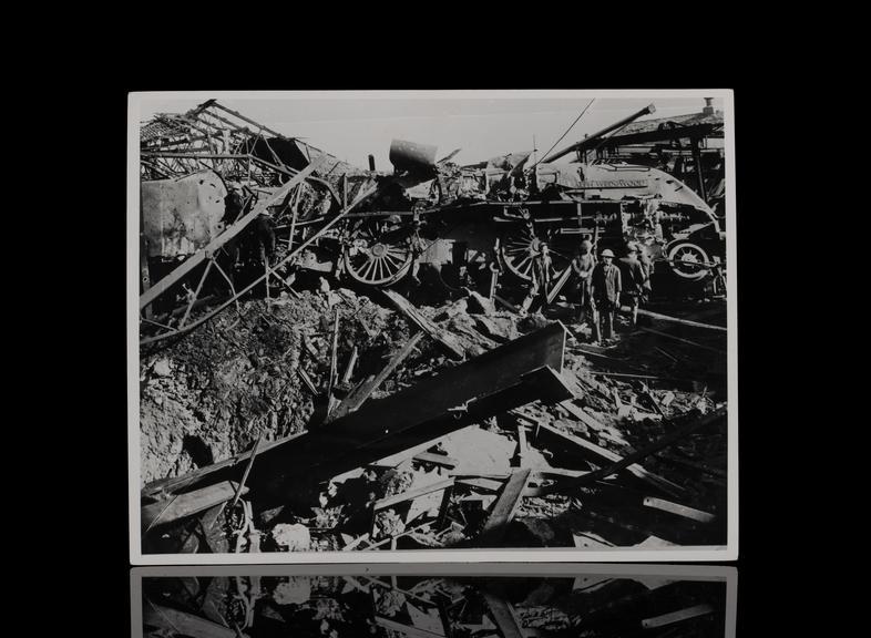 LNER 'Sir Ralph Wedgewood', war damage, York North MPD. April 1942