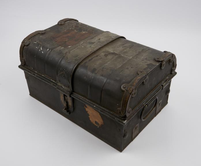 Tabloid' medicine chest in metal case, belonging to Henry Morton Stanley and prepared by Burroughs Wellcome and Co.,