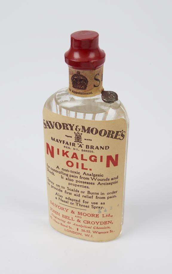 Bottle of Nikalgin' oil'