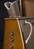 Pedoscope, by The Pedoscope Co. Ltd., St. Albans, Herts, circa 1950. Three quarter detail view. Black background.