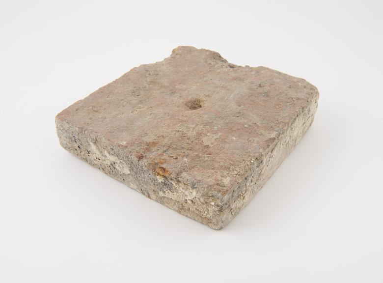 Oven floor brick from Waltham Abbey, 7 x 7*' x 1.75''