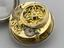 """Early balance spring watch by Thomas Tompion with """"Regulator"""" type dial, in silver case (1675-1679).  Detail of"""