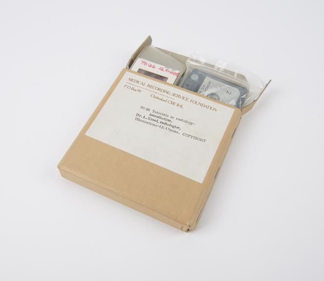 Tape/slide set entitled Tutorials in radiology' supplied by Medical Recording Service Foundation, Chelmsford, 1970'