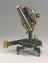 Three and a half inch travellers transit theodolite, c 1840. Made by Robinson. The theodolite which measures vertical