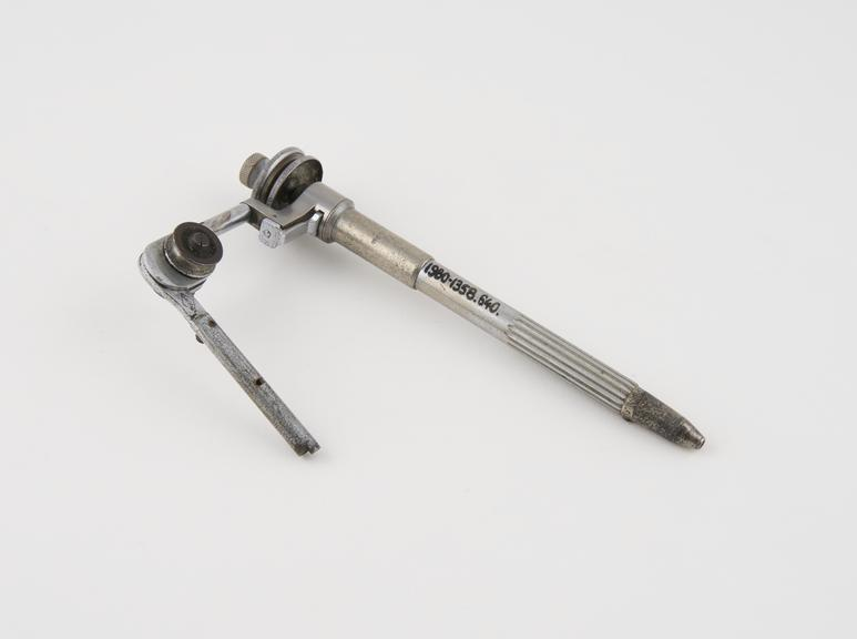 Sani-Jerty' Doriot straight handpiece with wrist joint, nickel and chrome plated brass, by the Cleveland Dental