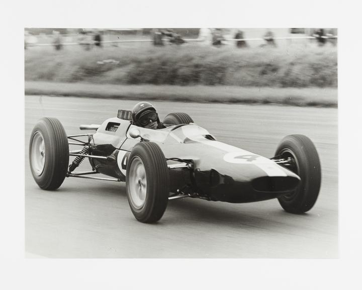 Andor Kraszna Krausz Collection. Silver gelatin photograph by Gerry Cranham, dated 1963. Image shows racecar driver Jim