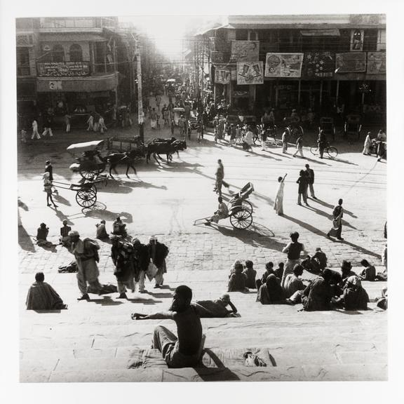 Kodak Collection. Silver gelatin print. Photograph by Sir Cecil Beaton showing a street scene in India during the