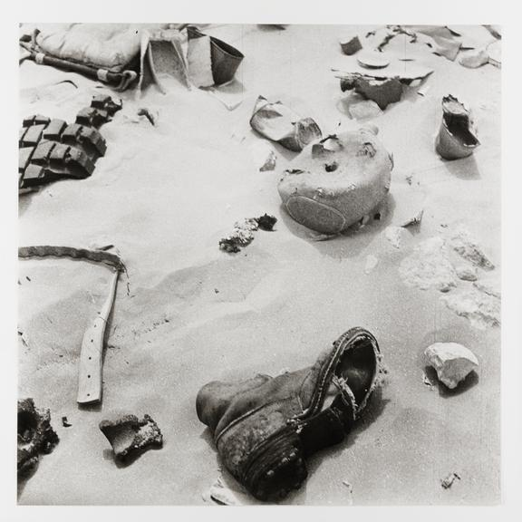 Kodak Collection. Vintage silver gelatin print. Photograph by Sir Cecil Beaton of debris left by Italian soldiers