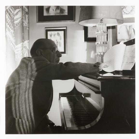 Kodak Collection. Silver gelatin print. Photograph by Sir Cecil Beaton of composer Igor Stravinsky (1882-1971).