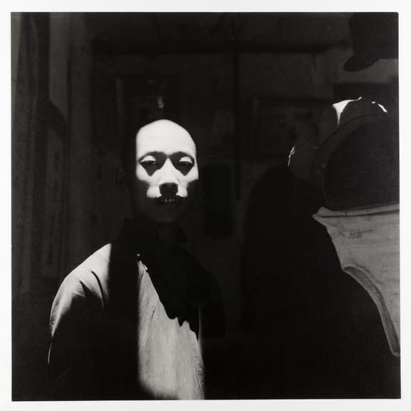 Kodak Collection. Silver gelatin print. Photograph by Sir Cecil Beaton of a man hidden partly in shadows. Chengdu,