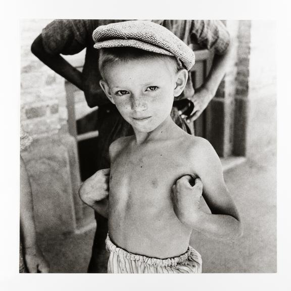 Kodak Collection. Silver gelatin print. Photograph by Sir Cecil Beaton of a young Jewish refugee in the Middle East