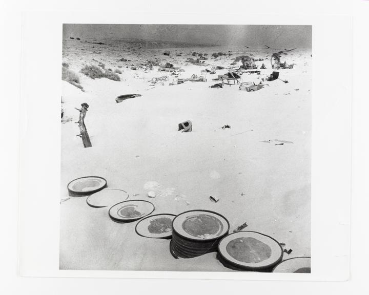Andor Kraszna Krausz Collection. Silver gelatin copy print made ca.1970s. Photograph by Sir Cecil Beaton of battlefield