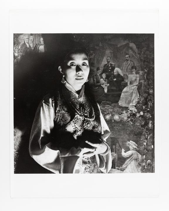 Andor Kraszna Krausz Collection. Silver gelatin copy print made ca.1970s. Photograph by Sir Cecil Beaton of Ashi Kesang