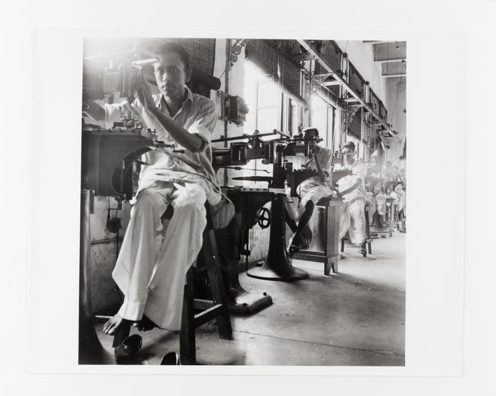 Andor Kraszna Krausz Collection. Silver gelatin copy print made ca.1970s. Photograph by Sir Cecil Beaton of workers