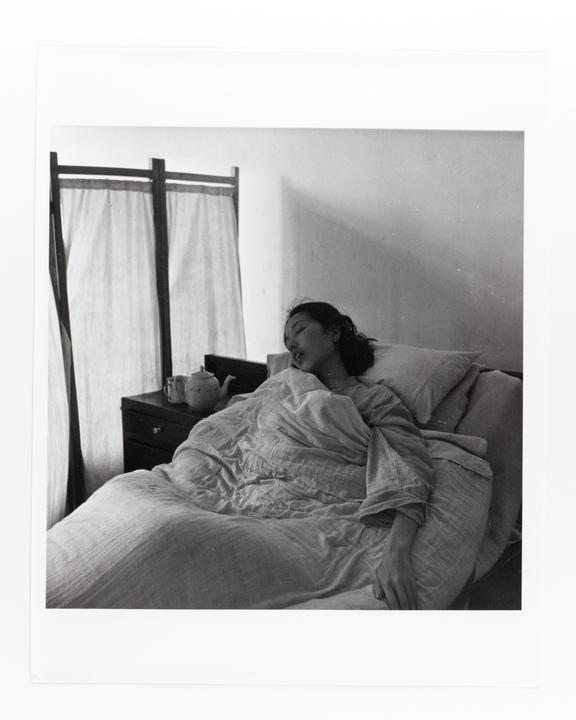 Andor Kraszna Krausz Collection. Silver gelatin copy print made ca.1970s. Photograph by Sir Cecil Beaton of a bedridden