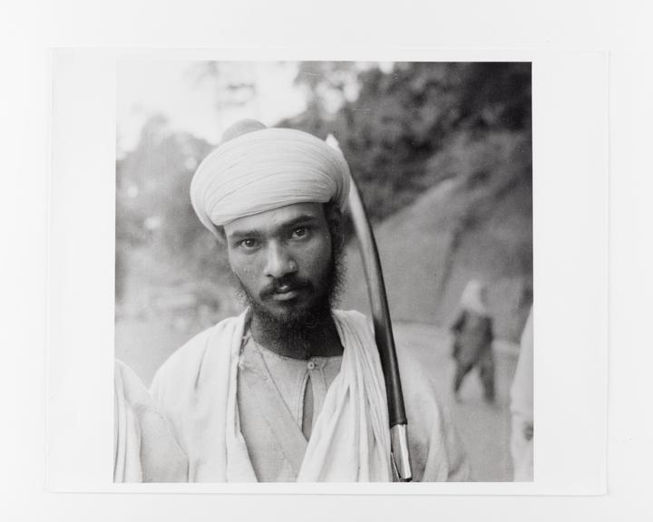 Andor Kraszna Krausz Collection. Silver gelatin copy print made ca.1970s. Photograph by Sir Cecil Beaton of an Indian