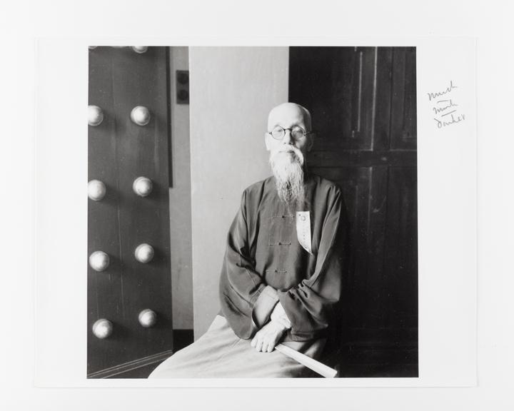 Andor Kraszna Krausz Collection. Silver gelatin copy print made ca.1970s. Photograph by Sir Cecil Beaton of Professor