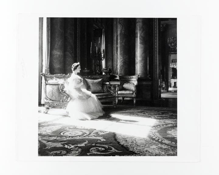 Andor Kraszna Krausz Collection. Silver gelatin copy print made ca.1970s. Photograph by Sir Cecil Beaton of Her Royal