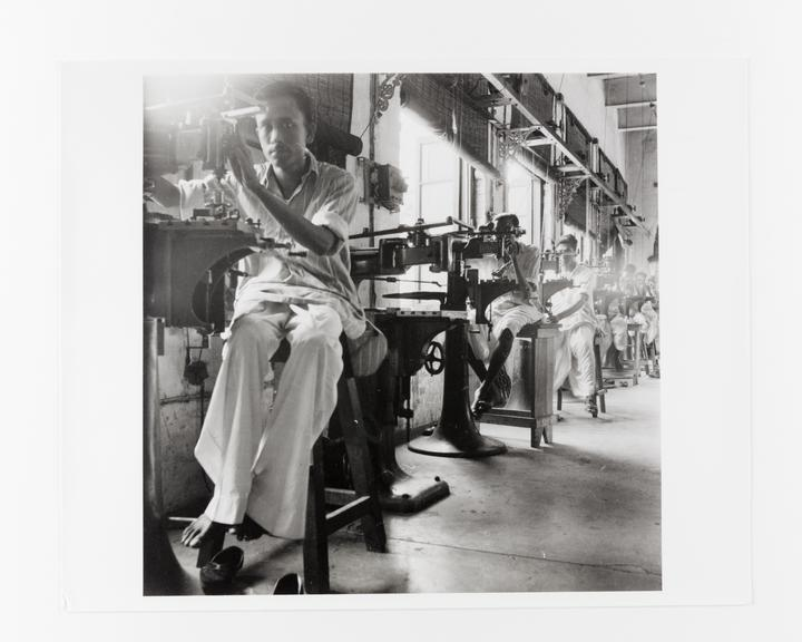 Andor Kraszna Krausz Collection. Silver gelatin copy print made ca.1970s. Photograph by Sir Cecil Beaton of factory