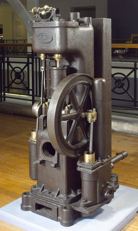 Davey's safety steam motor 1884 with 1 fire bar only and 1 screwed flange probably associated