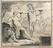 Drawing, left bottom of the mercury barometer.       Diagonal mercury barometer in walnut and mahogany frame, by Watkins &