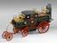 Scale model of the 1827, Goldsworthy Gurney steam coach, British