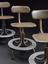 left: 2013-75, middle: 2013-73, right: 2013-74              Three telephone operator's chairs, unknown makers, for the General