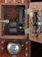 1953-106: Bell telephone receiver, mahogany case, made by the India Rubber, Gutta-Percha and Telegraph Works Company