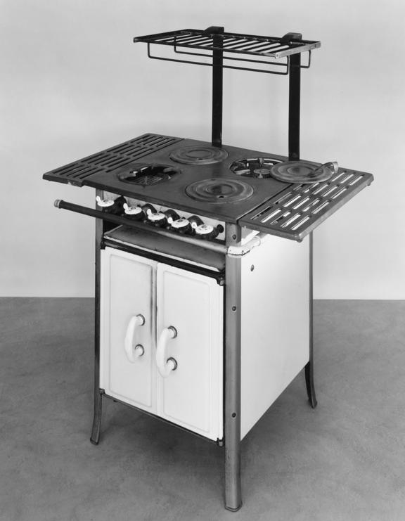 German gas-cooker, white enamel, 1929 Produced in Germany, 1929