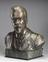Bust of Solvay, bronze, and marble plinth incised with his name, manufactured for the 50th anniversary of his invention