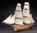 """Whole model of H.M. Gun-brig """"Fantome"""" built 1838-9. (Model rigged in museum in 1902-3)"""