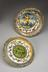 Tin glazed earthenware accouchement bowl and platter, decorated with scenes of childbirth,  from Urbino, Italian, 16th