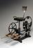 Exercise chair for patients with poliomyelities. Made by Rossel, Schwarz and Co., Wiesbaden, Germany, 1901-1905. Front
