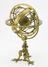 Armillary sphere on triple claw feet and inner wooden globe, with inscription 'Hieronymus Carmilli Vulpariae,