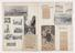 A selection of fifteen unbound pages of scrapbook, including press cuttings and photographs relating to early days of