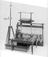 """X-ray installation, 1896-97, consisting of:- 13"""" spark coil mounted on glass pillars, with mercury dipper break (motor"""