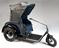 Carter Electric model 44, invalid carriage, registration number KDD 78, c. 1950.       Full view, graduated grey background.