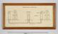 Diagram of Ronalds telegraph in glazed frame.  Overhead copy of whole object against grey background.